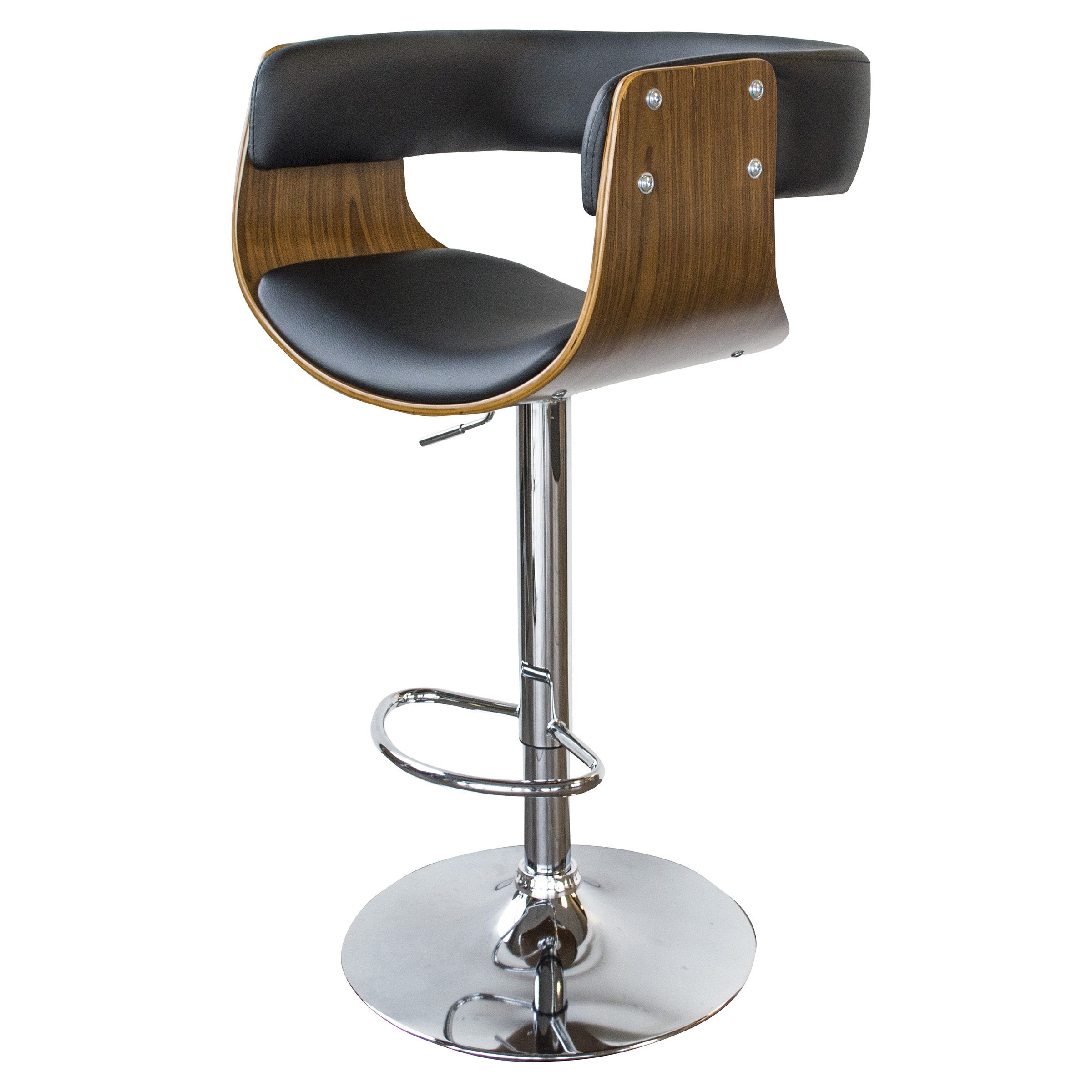 BSBWLB4 Bent Wood w/PU Leather Seat