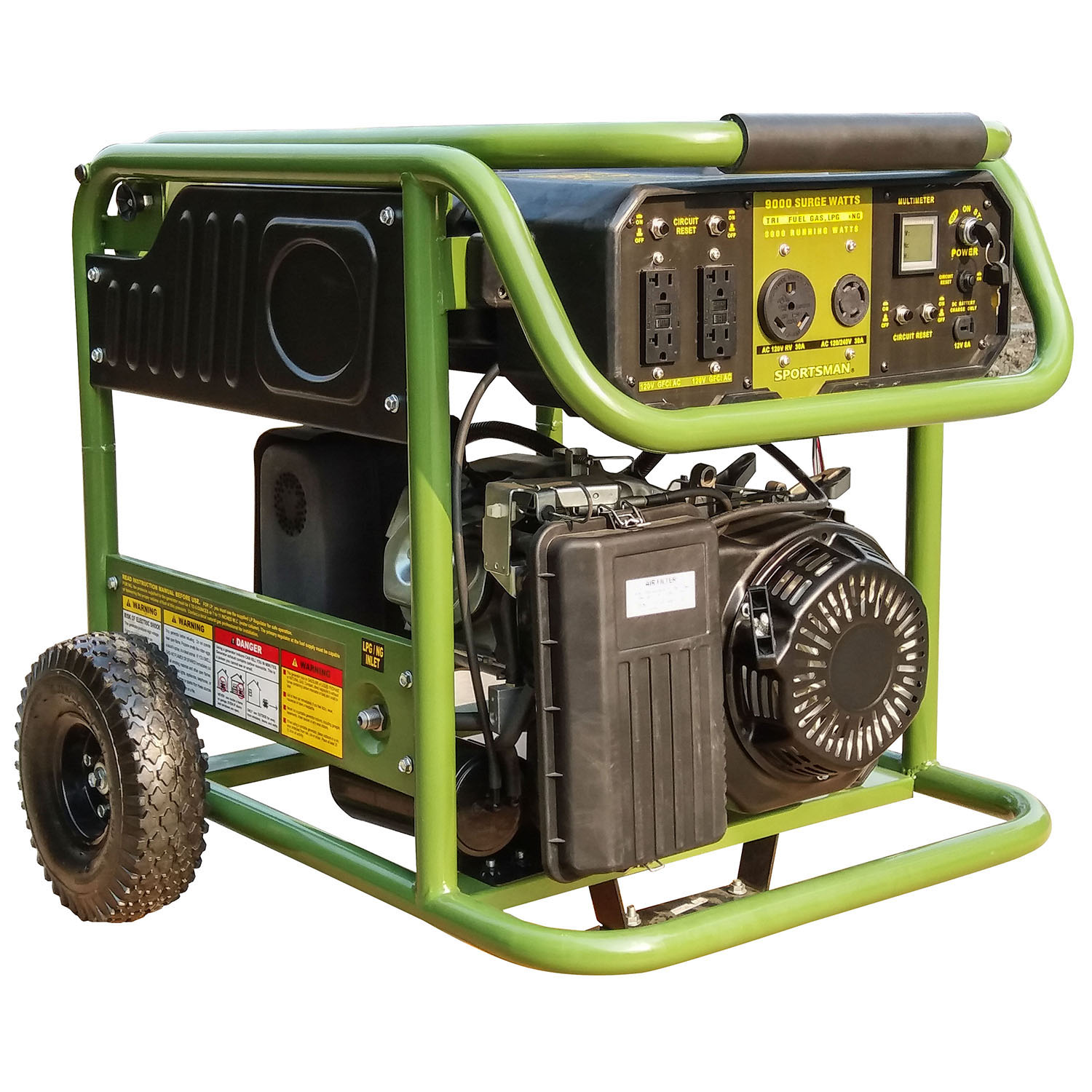 Generator Wattage Worksheet : Sportsman surge watt tri fuel generator
