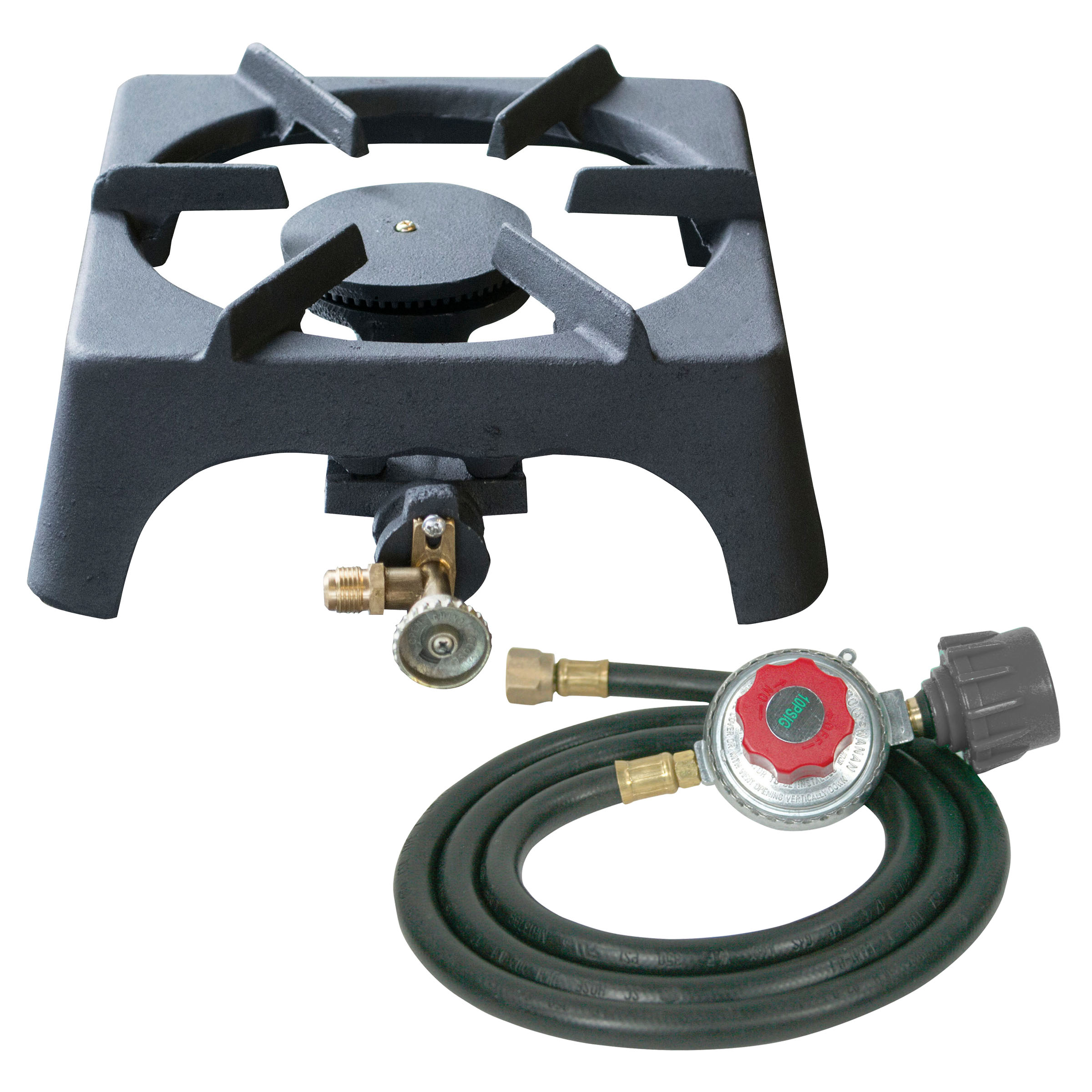 Sportsman Series Single Burner Cast Iron Stove with Regulator Hose